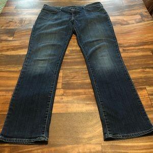 Levi's Demi Curve Straight Leg Blue Jeans